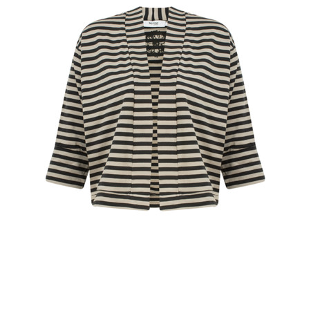 Myrine Tifany Striped Jacket - Black