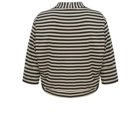Myrine Tifany Striped Jacket - Black