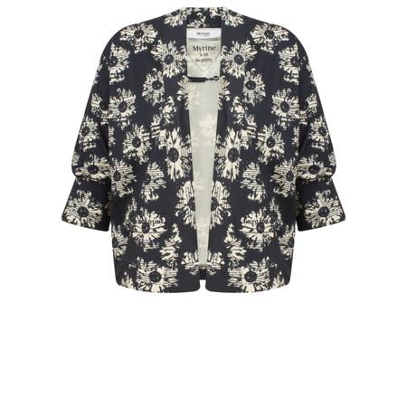 Myrine Paula Daisy Print Jersey Jacket - Ink Blue
