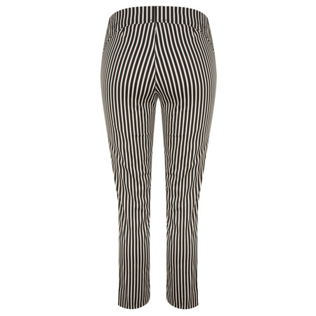 Myrine Bert Striped Stretch Trouser - Black