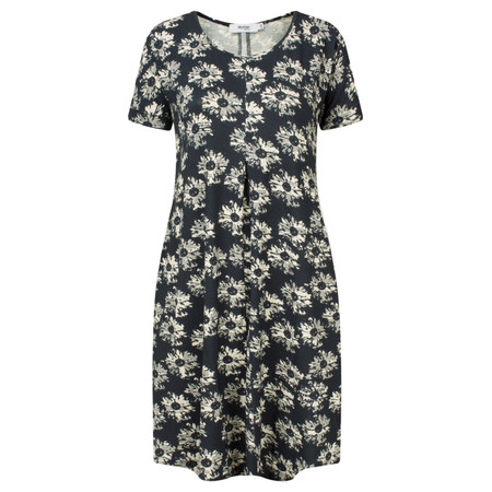 Myrine Pearl Daisy Print Tunic Dress - Ink Blue
