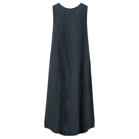 Grizas Silk Crinkle Long Dress - Blue