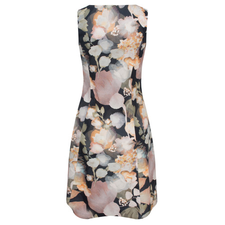 Myrine Anais Marble Print Sleeveless Dress - Black