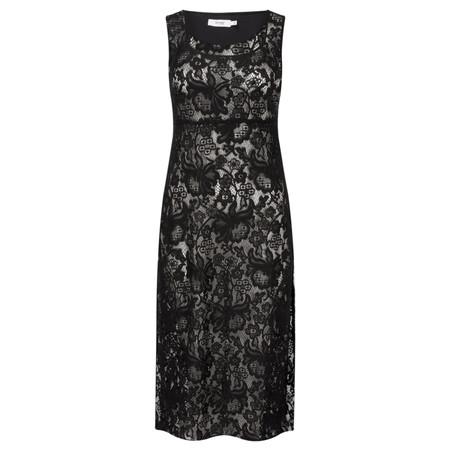 Myrine Lotte Lace Sleeveless Dress - Black
