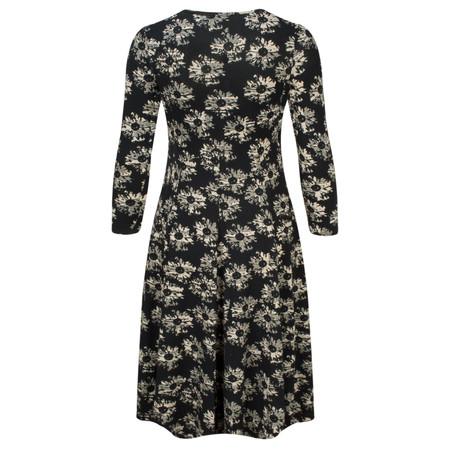 Myrine Pia Daisy Print Long Sleeve Dress - Black
