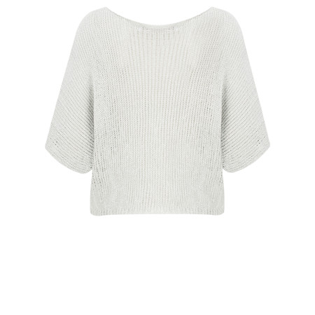 Lauren Vidal Ako Short Knit Top - Silver