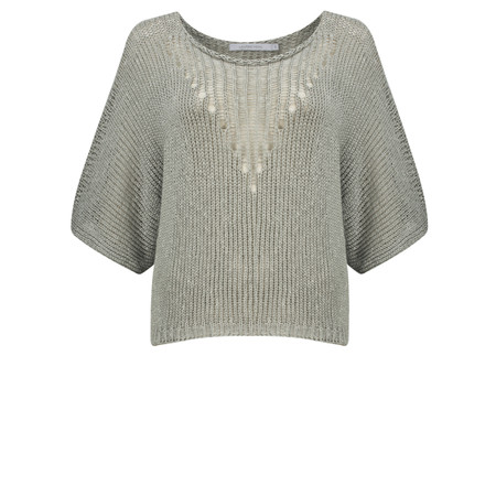 Lauren Vidal Ako Short Knit Top - Mastic