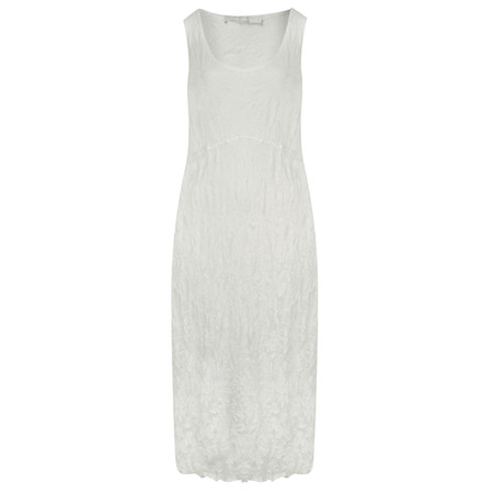 Lauren Vidal Vintage Collection Crinkle Dress - Off-white
