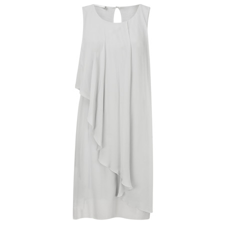 Lauren Vidal Asymmetric Drape Detail Dress - Silver