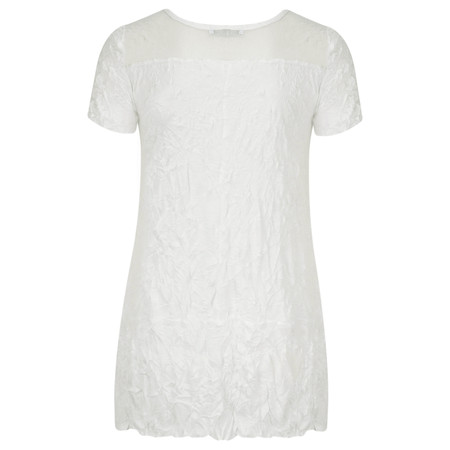 Lauren Vidal Vintage Collection Crinkle Top - Off-white