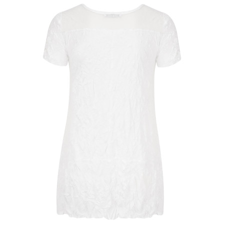 Lauren Vidal Vintage Collection Crinkle Top - Blanc