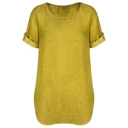 Grizas Oliato Linen Long Tunic - Green