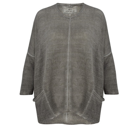 Grizas Oliato Linen Jersey Top - Grey