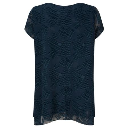 Grizas Silk Devoree Double Layer Top - Blue