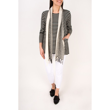 Masai Clothing Bultani Stripe Top - Black