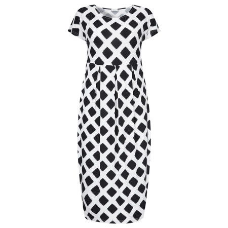 Masai Clothing Olnia Diamond Print Dress - Black
