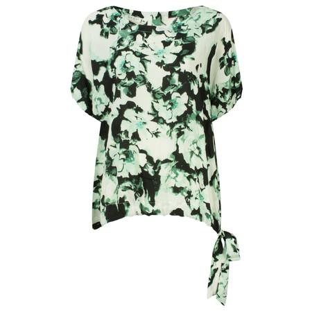 Masai Clothing Eilis Oversized Tie Detail Top - Green