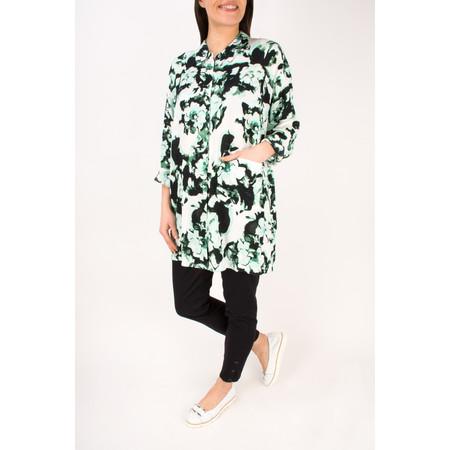 Masai Clothing Idons Print Oversize Blouse - Green