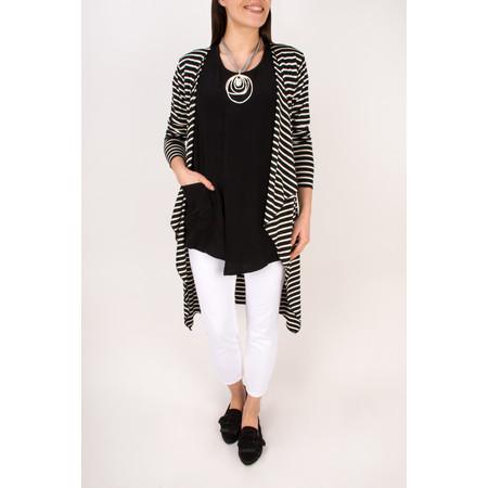 Masai Clothing Debora Double Layer Detail Top - Black
