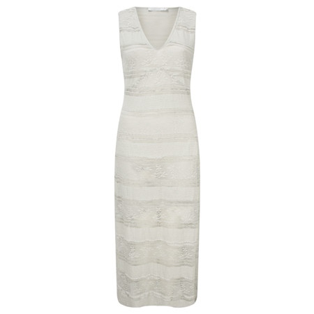 Lauren Vidal Angel Lace Dress - Off-white