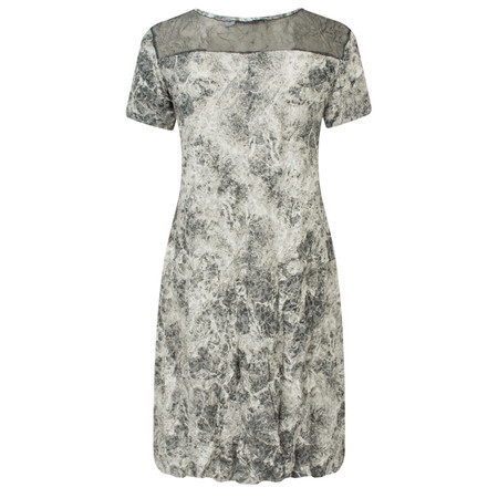 Lauren Vidal Vintage Collection Marble Print Crinkle Tunic - Grey