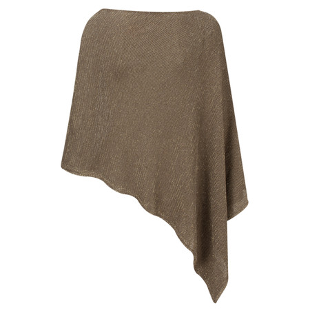 Lauren Vidal Ako Metallic Fleck Poncho - Brown