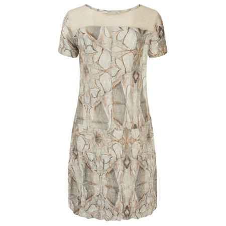 Lauren Vidal Vintage Collection Marble Print Tunic - Brown