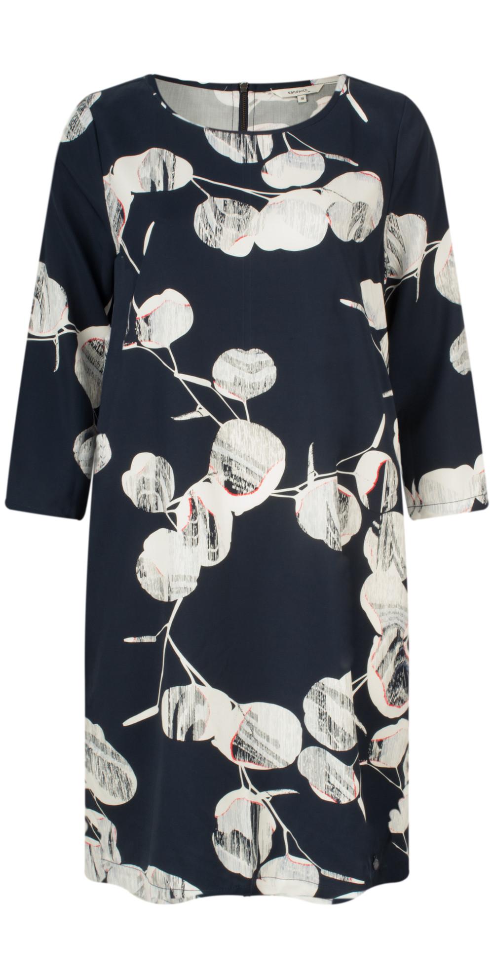 Circle Print Sleeved Dress main image