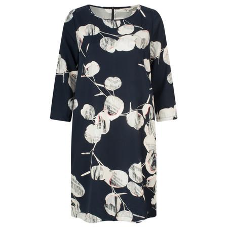 Sandwich Clothing Circle Print Sleeved Dress - Blue