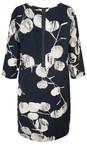 Sandwich Clothing Navy Circle Print Sleeved Dress