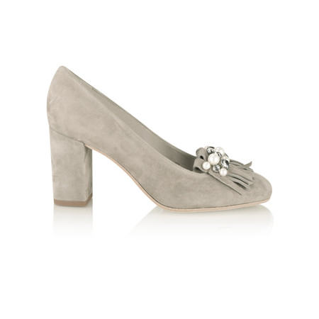 Kennel Und Schmenger Karen Pearl and Crystal Fringe Shoe - Ghost