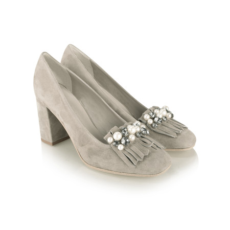 Kennel Und Schmenger Karen Pearl and Crystal Fringe Shoe - Grey