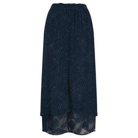 Grizas Silk Devoree Double Layer Skirt - Blue