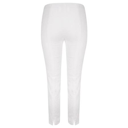 Robell Trousers Rose 09 Jacquard Slimfit 7/8 Trouser - White