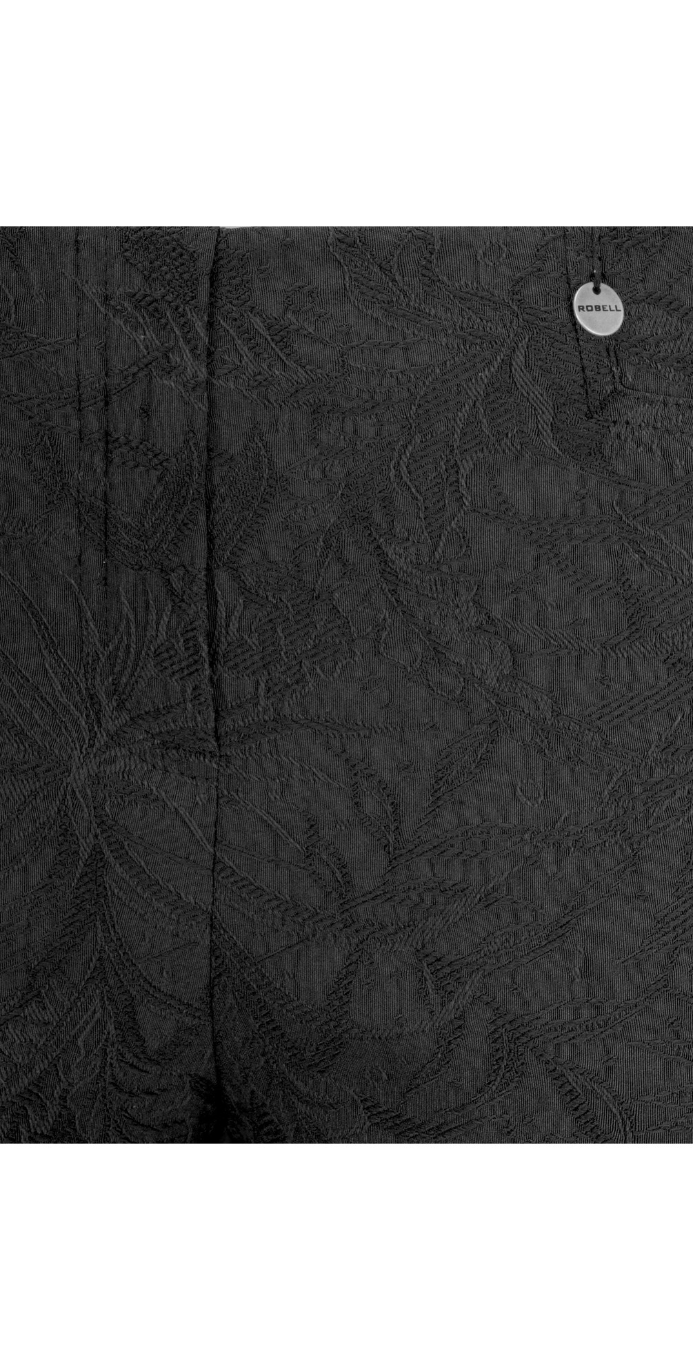 Rose 09 Black Ankle Length Jacquard Slimfit Trouser main image