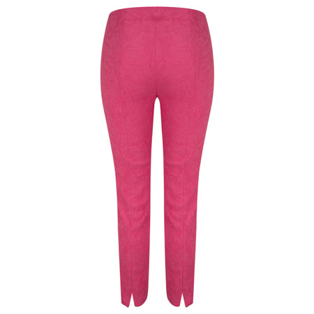 Robell Trousers Rose 09 Jacquard Slimfit 7/8 Trouser - Magenta