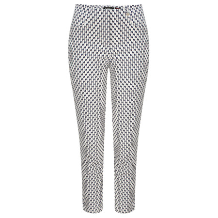 Robell Trousers Bella 09 Graphic Print - Blue