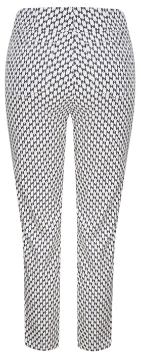 Robell Trousers Bella 09 Graphic Print Navy