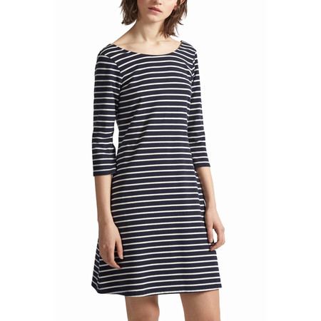 Great Plains Sunday Stripe Jersey Smock Dress - Blue