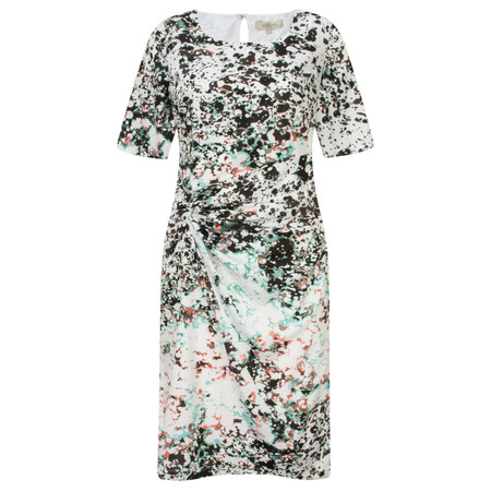 Great Plains Miquita Marble Ruched Dress - Spearmint