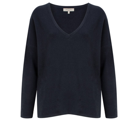 Great Plains Lyndsey Knit V Neck Jumper - Blue