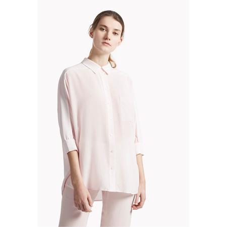 Great Plains Sophie Silk Batwing Sleeve Shirt - Pink
