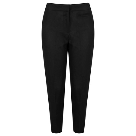 Great Plains Lara Linen Tailored Trouser - Black