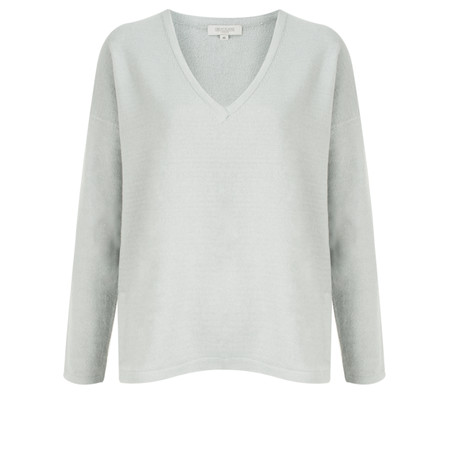 Great Plains Lyndsey Knit V Neck Jumper - Grey