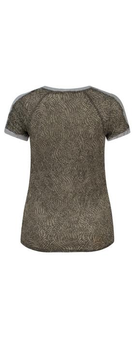 Sandwich Clothing Dotted Print Short Sleeve Tshirt Dark Wood