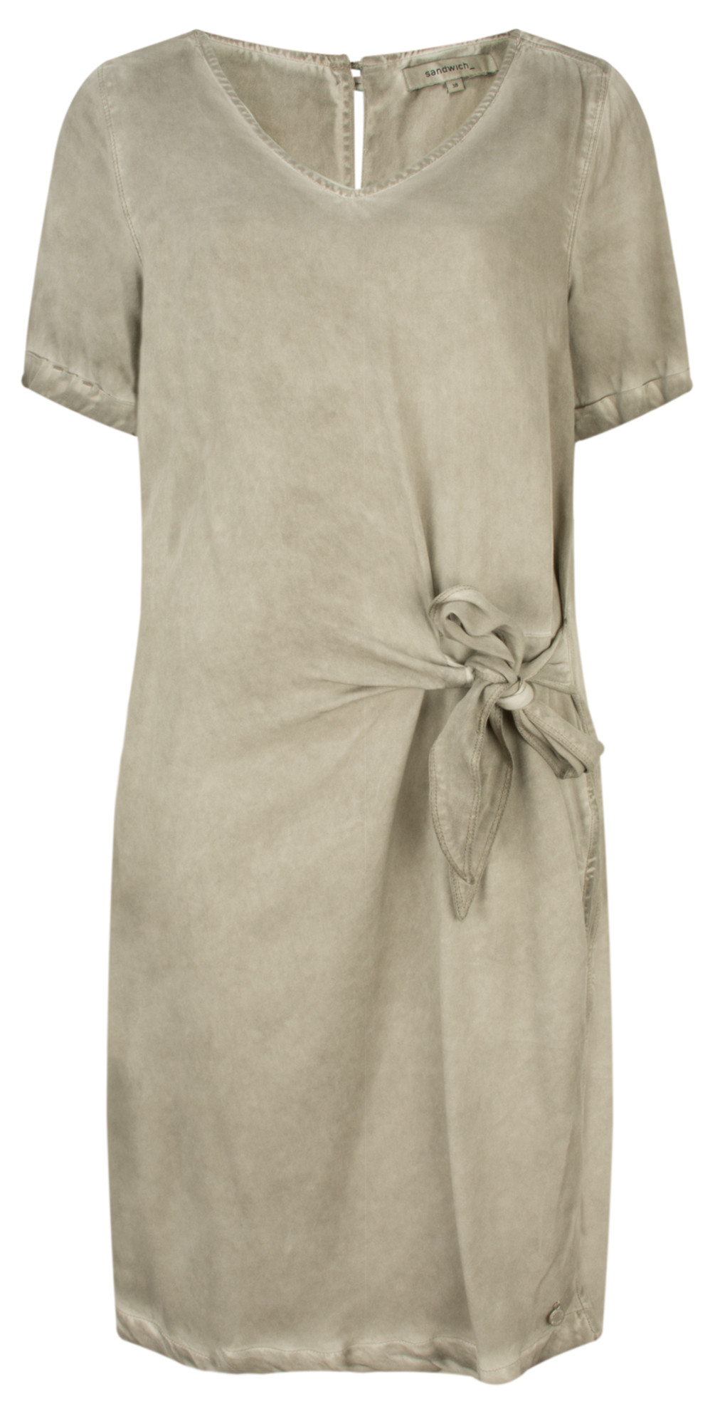Short Sleeve Dress with Side Tie Detail main image