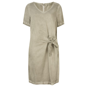 Sandwich Clothing Short Sleeve Dress with Side Tie Detail