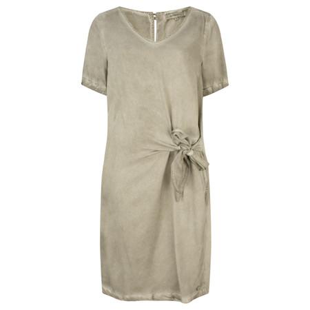 Sandwich Clothing Short Sleeve Dress with Side Tie Detail - Beige