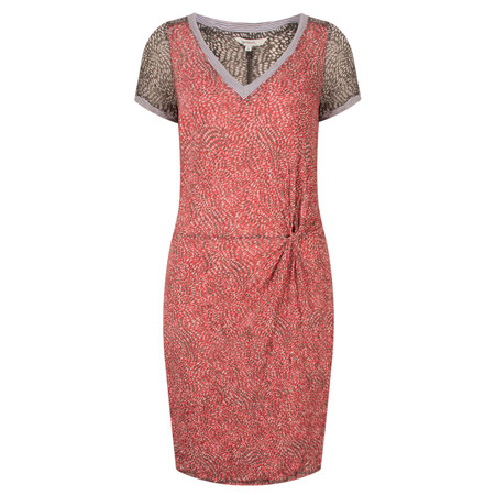 Sandwich Clothing Dotted Print Short Sleeve Crinkle Dress - Pink