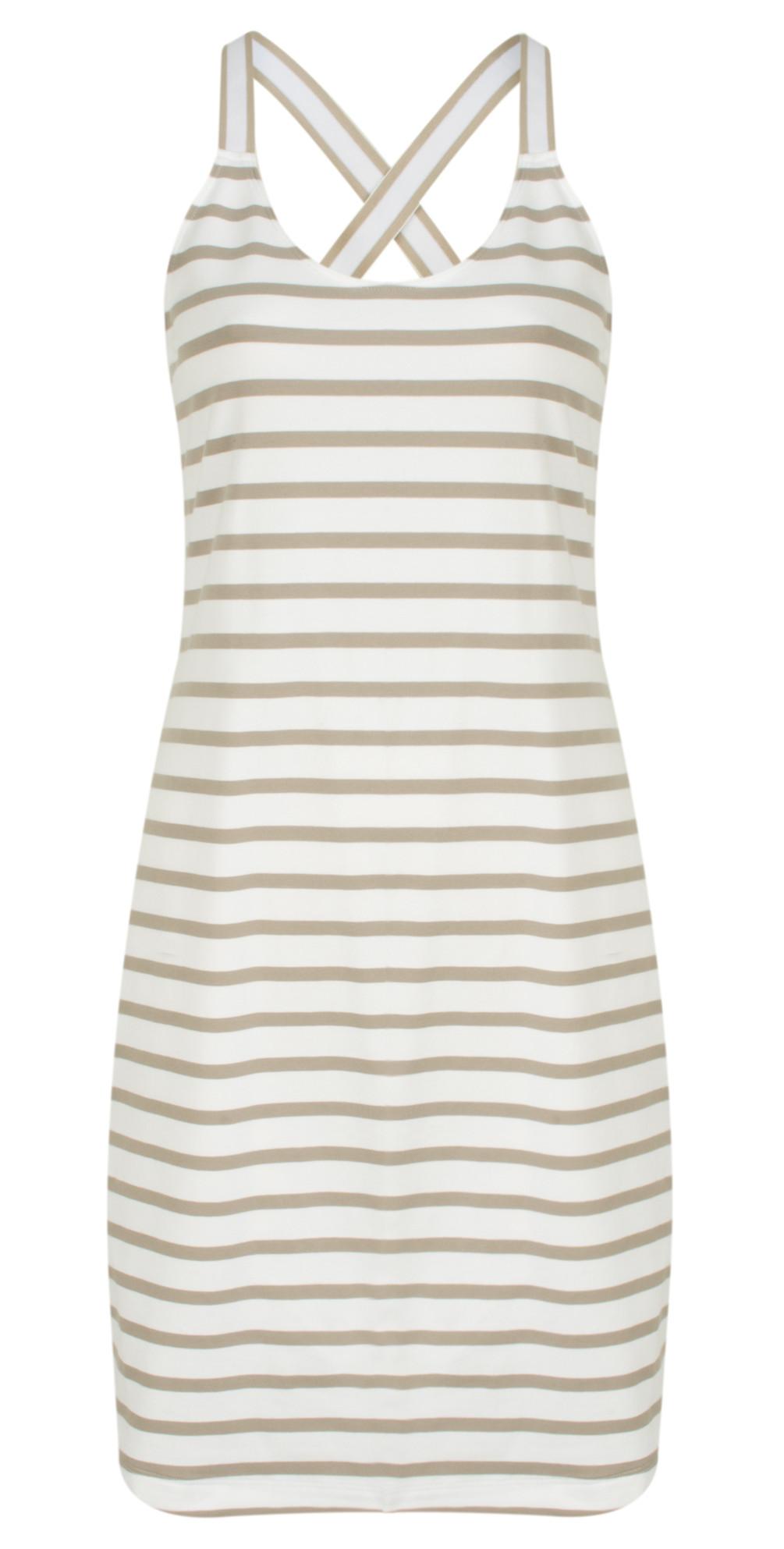 Essentials Long Stretch Stripe Cotton Vest main image